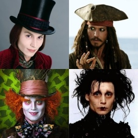 several johnny depp characters